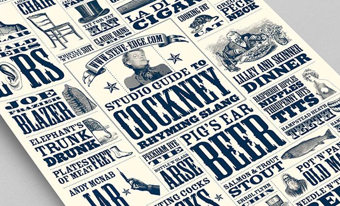 Cockney Rhyming Slang Poster - Steve Edge Design