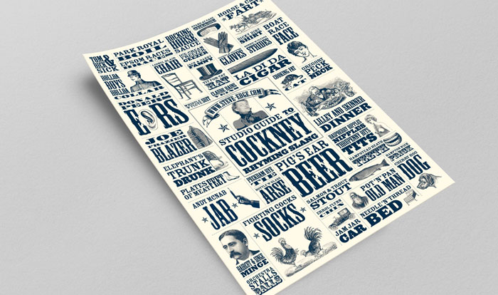 Steve Edge Design Shop - The Cockney Rhyming Slang Poster