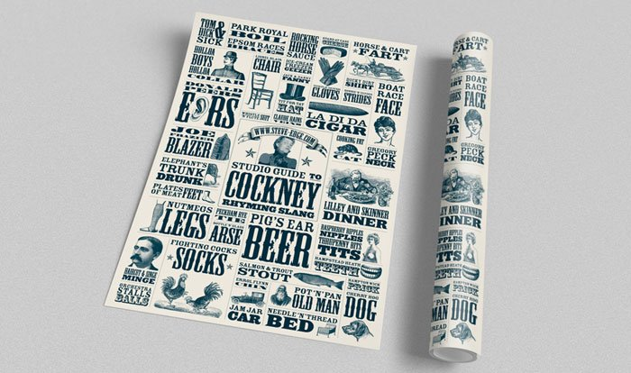 Steve Edge Design Shop - The Cockney Rhyming Slang Poster
