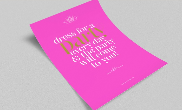 Dress For a Party Poster - Steve Edge Design